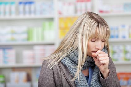Frau Erkältung Grippe