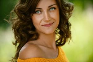 Frau mit schönen Augen