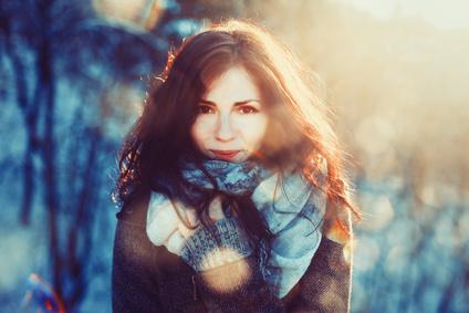Schöne Haare im Winter