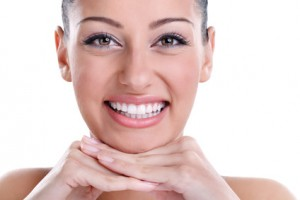 Frau schöne Zähne