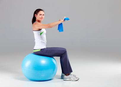Einsteiger Theraband Übungen für Schulter und Rücken