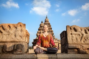 Frau Yoga Indien