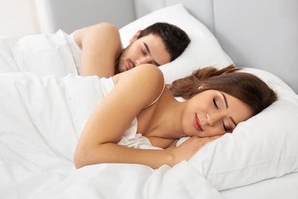 guter Schlaf im Bett