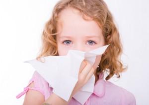 Kind mit Allergie