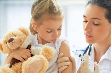 Impfung von Kind