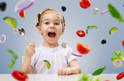 Kind vegan essen