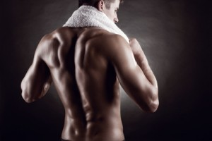 Mann Rückenmuskeln