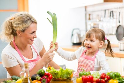 Mutter Kind Küche