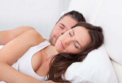 Paar schlafend