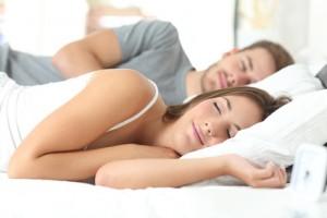 Paar am schlafen
