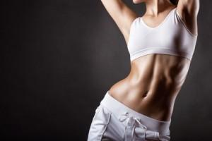 schlanke Frau nach Diät