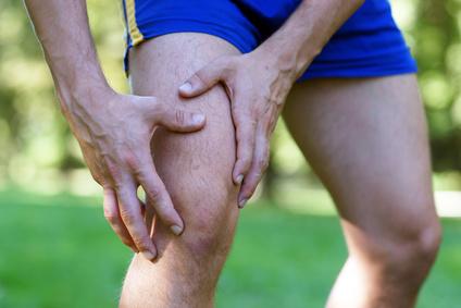Sportler Knieschmerzen